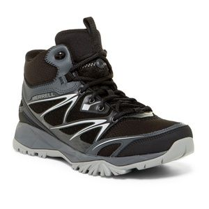MERRELL $140 Black CAPRA BOLT Mid Hiking Boots